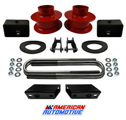 F250 F350 Super Duty Lift Kit 4wd 3.5 Red Front + 3 Rear + Shock Ext+ Sway Bar