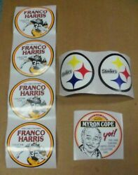 Pgh Steelers, Iron City Beer Stickers 7, Myron Cope, Steelers And Franco Harris