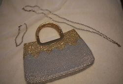 Amidi Evening Bag - Gold and Silver