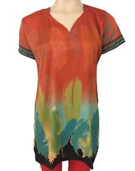 Beautiful French Design Crepe Tops Blouse Kurti - Tunic for Women - 3010-SS