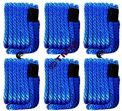 6 New Blue Solid Braid Mfp 3/8 X 15' Ft Boat Marine Dock Lines Mooring Ropes