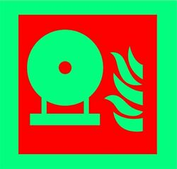 Sticker / Decal Fixed Fire Extinguisher Bottle Symbol 20x20cm Kp 1035