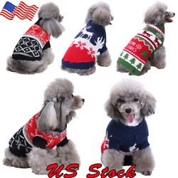 Christmas Sweaters Winter French Bulldog Sweater Dachshund Jumpers Puppy Dog US
