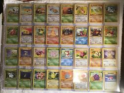 Pokemon Complete Set 32 Card 1st Edition Jungle Common And Uncommon Exc/nm