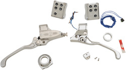 Performance Machine Hand Control Complete Sets Chrome Cable Clutch #0062-4021-CH