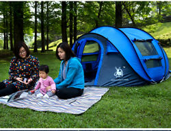 Automatic Outdoor Camping Tents Waterproof Throw Large Tent Throwing Pop Up Bag