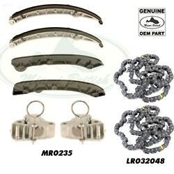 Land Rover Set Lh And Rh Upper And Lower Chain Rails And Tensioners Range Lr4 Mr0235