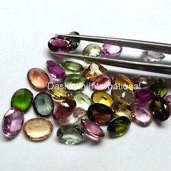 Natural Multi Tourmaline Faceted Oval Loose Calibrated Gemstone VS Clarity Gems