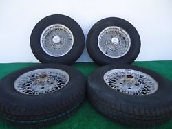 Set Of 4 Borrani Handmade 12 X 4 Wire Wheels Used Come With Tires
