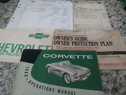 1960 Original1st Edition Corvette Owners Manual With Full Card Package