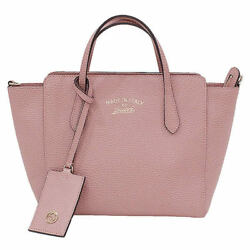 Gucci Swing Leather 2Way Top Handle Bag (14956
