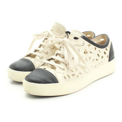 Chanel Flower Leather Sneakers By Color 36 20347 (106033