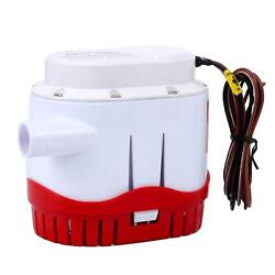 12v 2000gph Auto Submersible Boat Bilge Water Pump Built-in Float Switch-us Ship