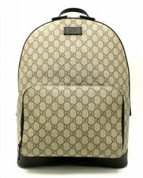 New Unused Goods Bag Gucci Gg Supreme Backpack Pvc Leather (129507