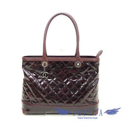 Chanel Damage Design Tote Bag Bordeaux (103101