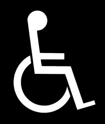 Handicap Decal Sign For Car Windows Outdoors Store Outlet Bathroom Etc...