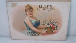 Antique Cigar Box Label Lily's Full Weight Lithograph F Heppenheimers And Sons