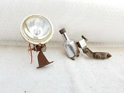 Vintage Bicycle Headlight And 1068 Marked Dynamo