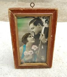 Vintage Ela 2943 Marked Couple Doing Romance Well Framed Picture