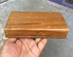 Vintage Hand Crafted Wooden Jewellery / Merchant's Money Box