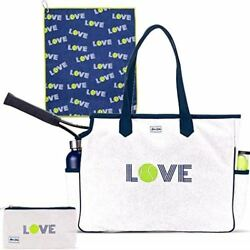 Ame & Lulu Love All Court Bag Gift Set with Matching Cosmetic Case and Tennis To