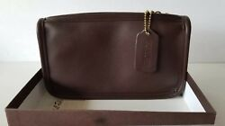 Vintage Coach Clutch Wallet Accessory Brown Leather Bag !! (1998)100% Authentic!