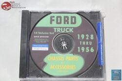 1928-56 Ford Truck Chassis Parts Accessories Catalogue Cd Rom Disc Pdf New
