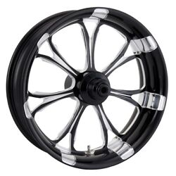 P.m. Front Forged Wheel Dual Disc 23x3.5 Platinum Paramount 08-13 Harley Abs