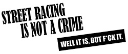 Street Racing Is Not A Crime Decal Jdm Funny Decal For Car Windows Outdoors...