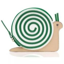 NWT KATE SPADE Turn Over A New Leaf LEATHER Snail Coin Change Case Purse Holder