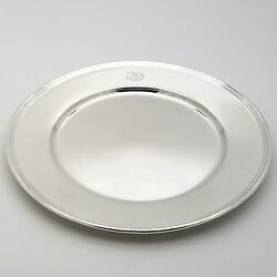 And Co. Makers Sterling Silver 6.5and039 In Cookie Saucer Bread Charger Plate