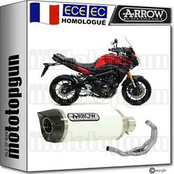 Arrow Ligne Complete Cat Thunder Carby Blanc Yamaha Mt 09 Tracer 2017 17 2018 18