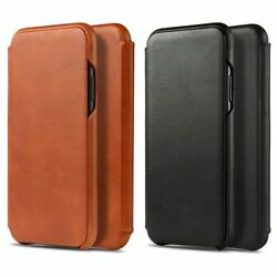 For Iphone 12 12 Pro 11 Pro Max Xr Xsmax Xs Genuine Leather Flip Case Cover