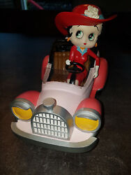 Extremely Rare Betty Boop Riding In Cabrio Old Timer Car Figurine Statue