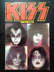 Kiss 1977 And 1978 Rock And Roll Over And Love Gun World Tour Concert Program Book