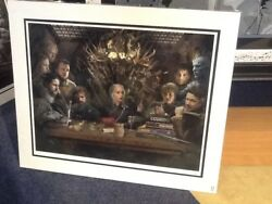 Game Of Thrones Board Of Games By Jj Adams Mounted Limited Colour Edition Of 95