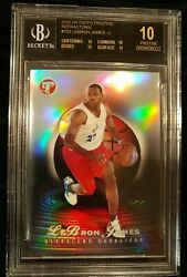 2003-04 Topps Pristine LeBRON JAMES BLACK LABEL REFRACTOR RC BGS 10 POP 1 11