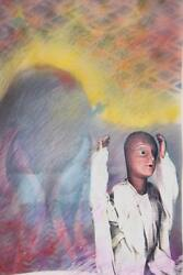 Merle Rosen Beautiful And Very Original Multi Combo Mixed Media Composition