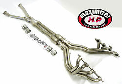 Maximizer Catted Exhaust Long Tube Header Fits Chevy Corvette 01-04 Ls1 5.7l C5