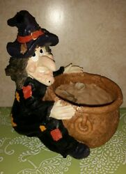 Rare Halloween Witch Planter/ Candy Dish