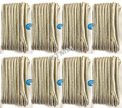 8 Gold/white Double Braided 1/2 X 15' Hq Boat Marine Dock Lines Mooring Ropes