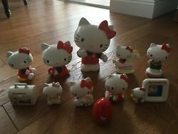 Vintage 1976 Sanrio Hello Kitty Banks - Made In Japan - Lot Of 11 - Rare