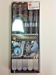 The Chameleon Color Tones 5 Pen Set of Gray Tones
