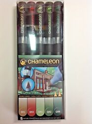 The Chameleon Color Tones 5 Pen Set of Nature Tones
