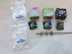 Authentic Ohm Beads Set Bunny Angel Aax027 + Spring Refractions Amg050