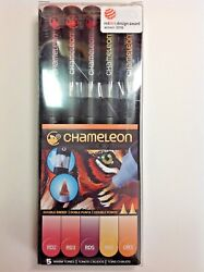 The Chameleon Color Tones 5 Pen Set of Warm Tones
