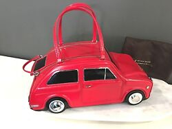 NWT Kate Spade Amazing Car Purse Rose-colored glasses Red leather Novelty Car