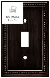 Brainerd 64411 Beaded Single Toggle Switch Wall Plate  Switch Plate  Cover Ve