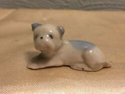 Vintage Porcelain Ceramic Bulldog miniature figurine collectible made in Japan