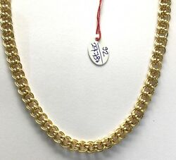 Vintage Handmade Solid 22k Gold Jewelry Flexible Link Chain Necklace